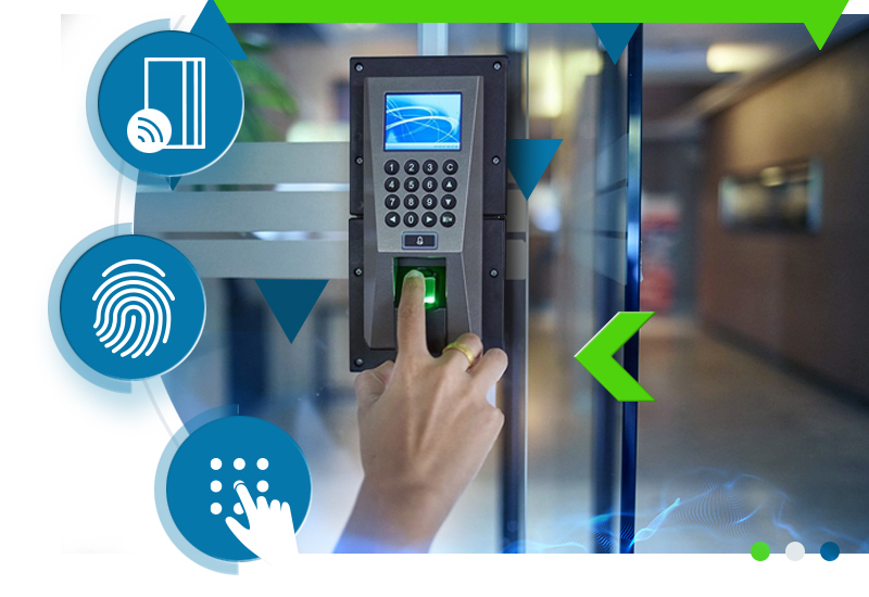 Protect a large multi-site installation or a small office with keypads, card & biometric readers